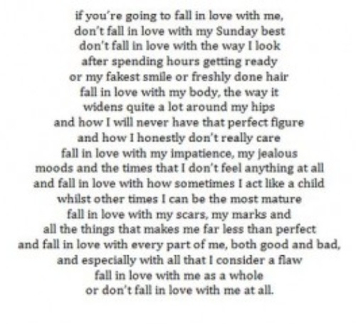 or don't fall in love with me at all